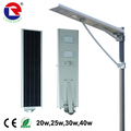 CE,ROHS,IP65,TISI Approved Integrated solar garden light,high lumen all in one soalr street light 8w