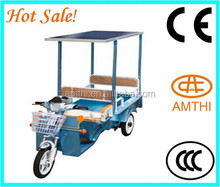 Solar electric battery operated tricycle, adult electric tricycle, new electric tricycle