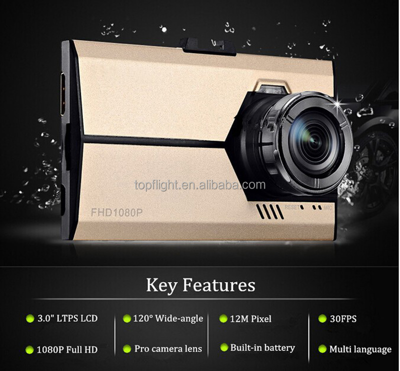 3.0'' LCD NTK96620 HD mini camera video recorder h.264 super dvr car camera