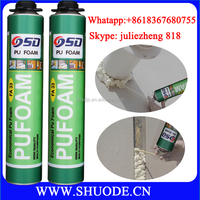 High expansion 750ml polyurethane foam filler
