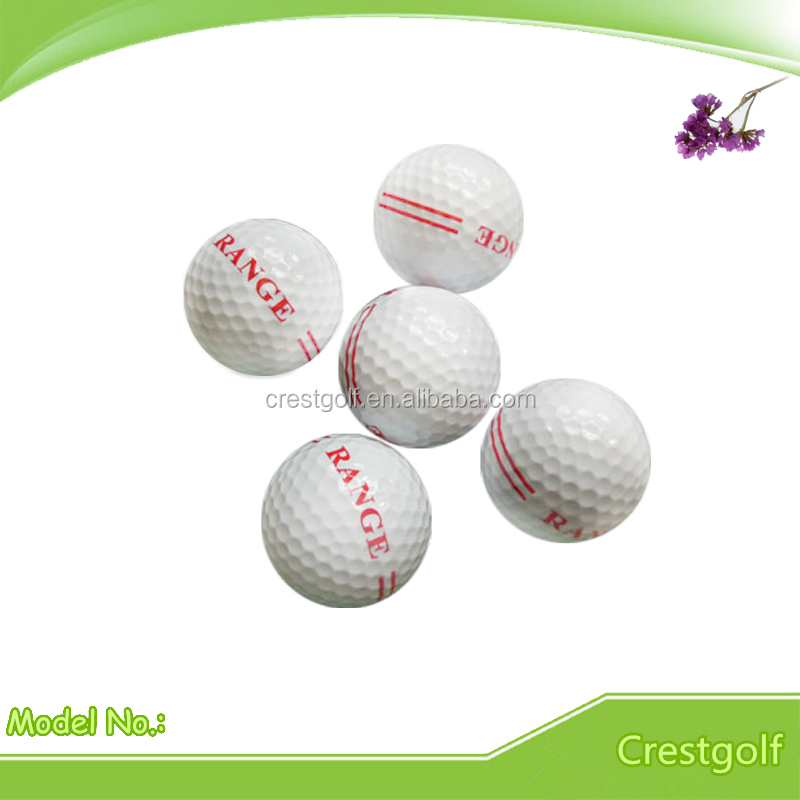 Range Golf Ball with Stripe RANGE logo