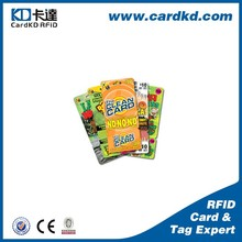 standard business card plastic mobile punch card scratch card