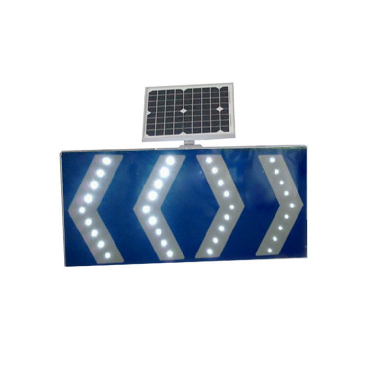 Led placard warning solar powered traffic arrow signals sign