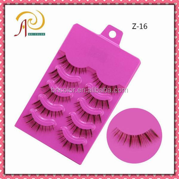 Good quality,Cheap price, Hand made,Strip false natural long eyelashes Z-16