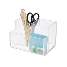 High Quality Clear Acrylic Pen Stand Acrylic Office Desk Organizer