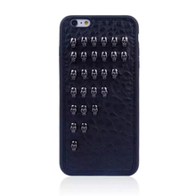 wholesale cell phone case Metal Skull Rivet Studs Coated TPU Case for iPhone 6 Plus 5.5 Inch