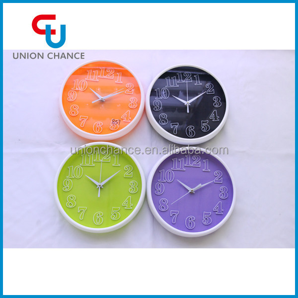 New Product Round Bright-Coloured Wall Clock