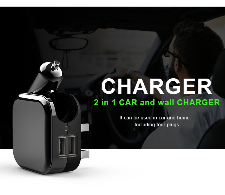 Otravel smart wireless micro mini electric dual port usb car charger usb charger with US plug for mobile phone accessories