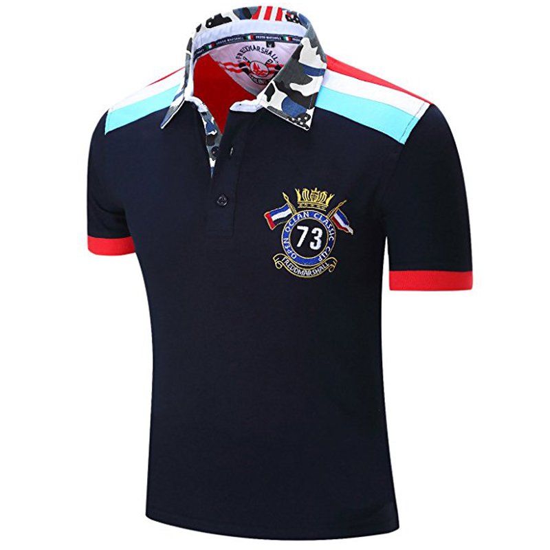 brand name family security men's 100% polo t-shirt