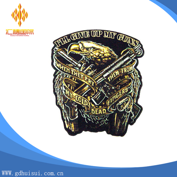 New design embroidery patch with heat cut backing/laser cut heat press embroidery patch