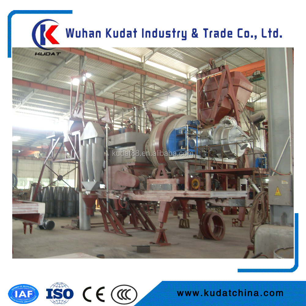 Mini Mobile Asphalt Batching Plant 10tons per hour