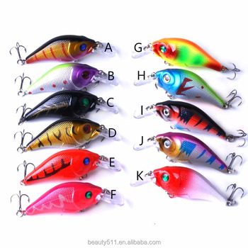 HOT sale 3D Eye Artificial Bait fishing lure Lures 6# Hook 7.5cm 10g crank Fishing Lure Hard Artificial Swim Baits 11 colour