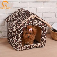 All year use dog house canopy pet bed washable raised cat house luxury dog pet house