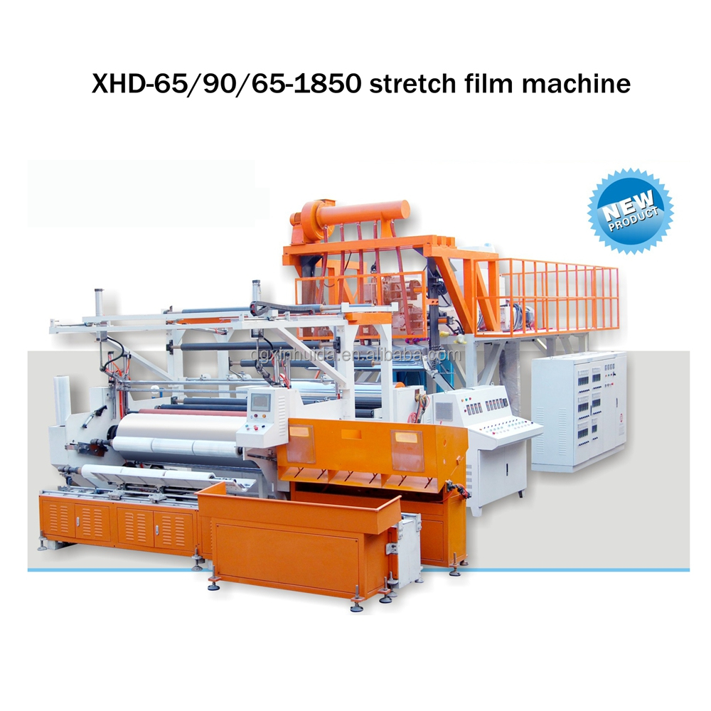 automatic 1500 mm three-layer top stretch film making machinery