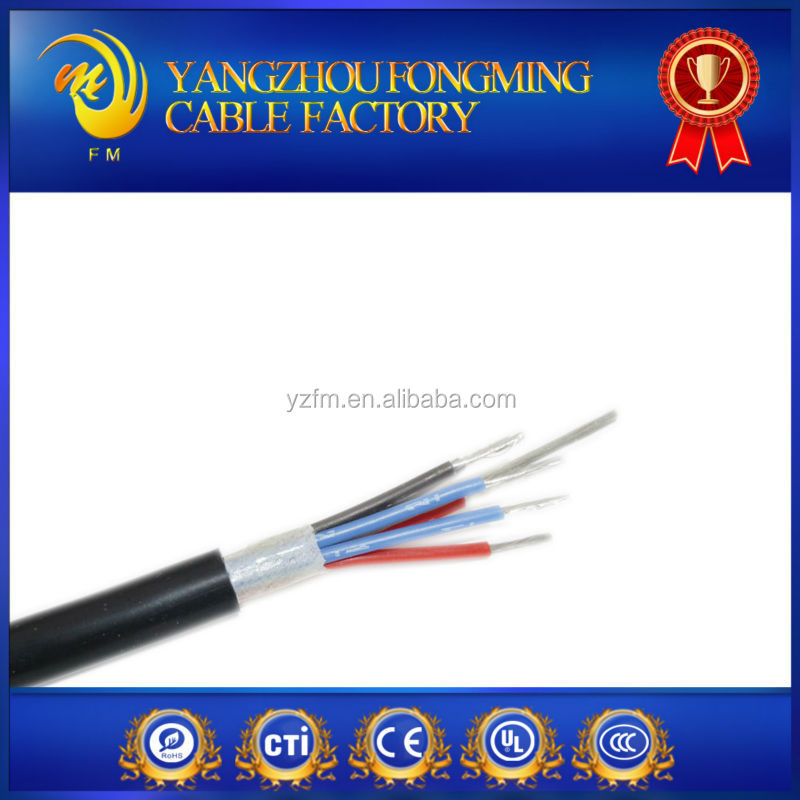 High temperature high quality silicone rubber 6,7 core cable