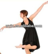 ballet dance wear for girl show dance wear,Sexy Stars Sheer See Through Low V-back Long Black Lace Prom Dresses