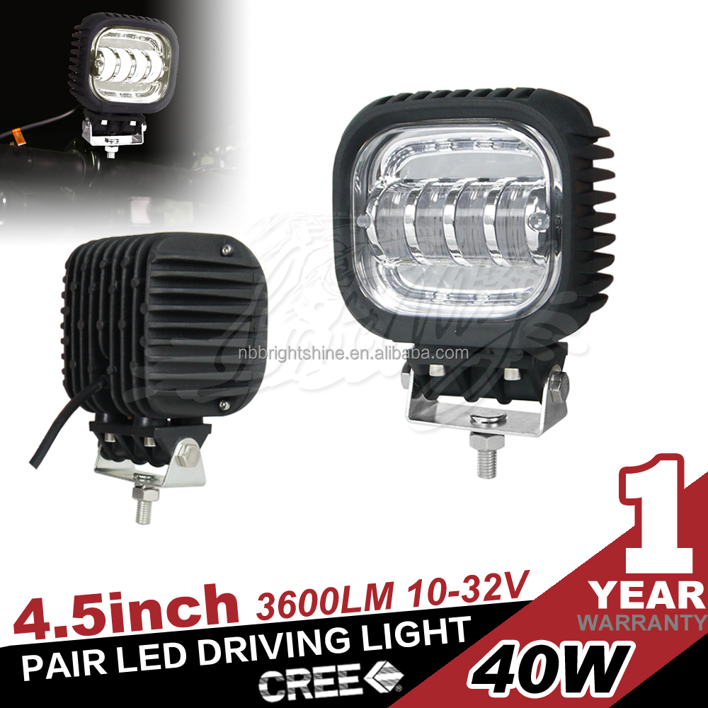 40W 4.5inch Offroad 4X4 Led Tractor Working Lights with Waterproof