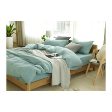 100%cotton grey melange jersey fabric bedding <strong>set</strong> bed sheet duvet cover <strong>set</strong>