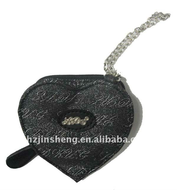 Special design love shape lovely coin purse for ladies