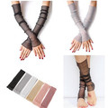 Sun UV Protection Drving Cycling Sports Cooling Purl Arm Cuff Sleeves