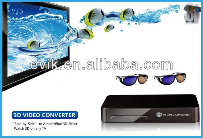 HD 1080P 3D Converter Box for LCD TV/MID/Multi-Media Player / DVD Player / Blue-Ray Player / PC / Laptop / STB.