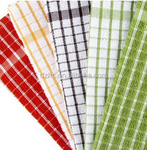 classic checked design Terry Tea Towels, 5 Pack made from 100% cotton