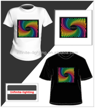 2014 100% cotton sublimation EL Music T-shirt/sound activated custom led t shirt