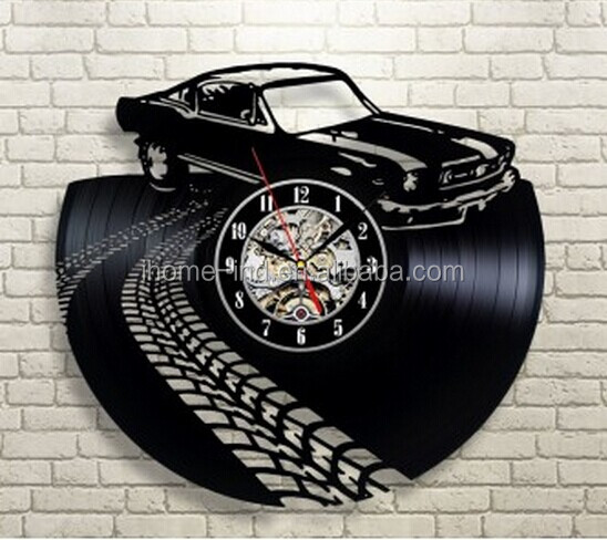 modern wall clock decor car shape clock for bedroom (T5706)