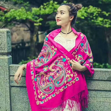 Hot Selling Colourful Pashmina embroidery Shawl Scarf