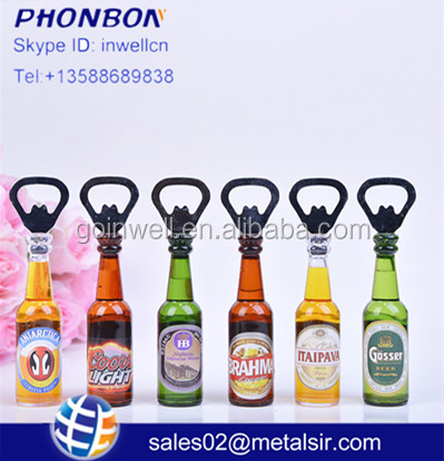 2017 creative bottle opener custom european cheap Fridge magnets