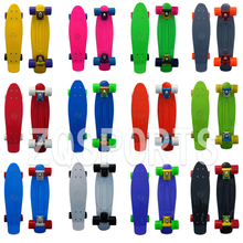 Hot sale Outdoor sports Durable PP material Aluminum truck 22 inches plastic cruiser peny mini fish skateboard