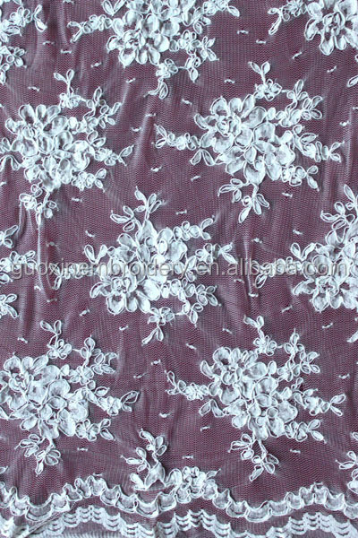 nylon spandex lycra embroidered lace fabric