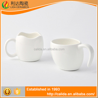 New arrival durable mugs white porcelain modern LD12043 mug ceramic with high quality
