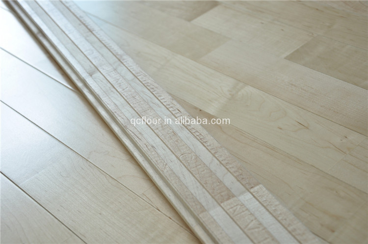 Anti-slip finger-joint sports flooring / wood flooring tile indoor usage