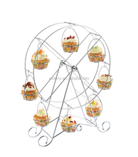 Metal wire iron home apply bread wedding rotating cupcake stand for cup cake