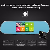 Bluetooth Mirror GPS Reversing Camera with Wifi HD DVR Recorder