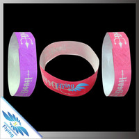 colorful paper tyvek wristbands with neon color