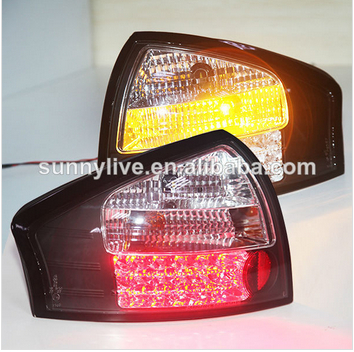 For Audi A6 LED Tail Light Rear lamp 1999-04 year White Black