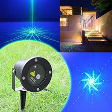 SUNY Outdoor /Indoor Led Mini Laser Light Green Lighting Projector with Show Outside Landscape Garden Home Xmas Party