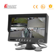 Best selling new products 7 inch tft lcd car quad monitor