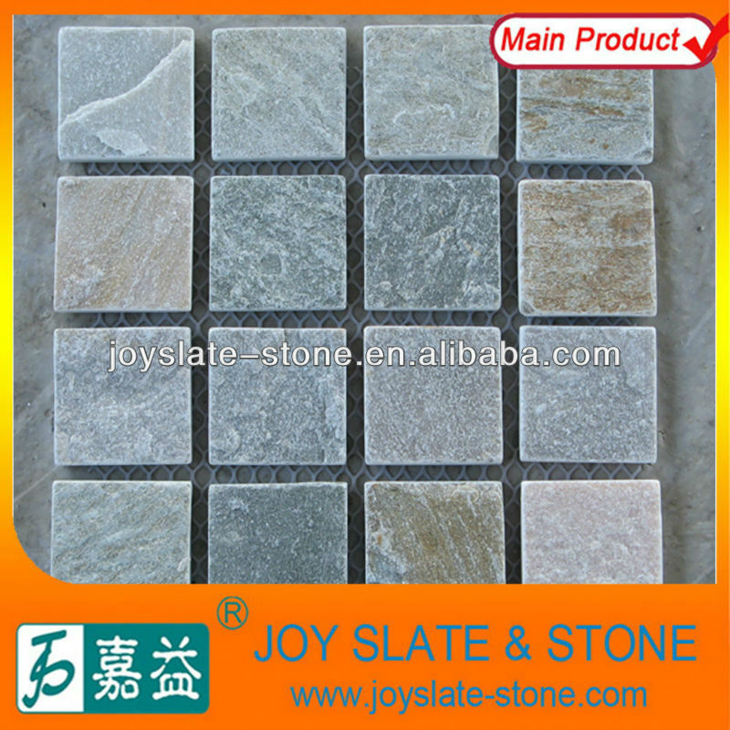 Natural quartz slate indoor paving tile in stone for cheap price