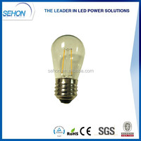 alibaba express low cost white s14 2w/4w led dimmable bulb