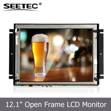 Sunlight Readable 12.1'' open frame HDMI VGA best gaming touch screen monitor