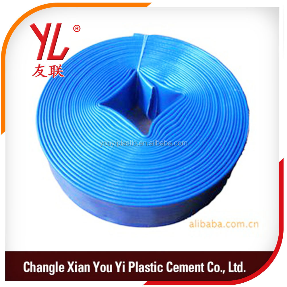heavy duty flexible pvc lay flat discharge and irrigation hose