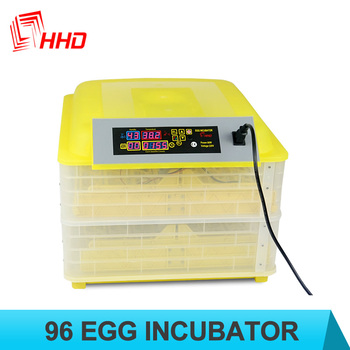 HHD 98% hatching rate Factory supplied Full automatic 96 chicken egg incubator for sale