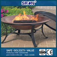 SRON Customized Steel Outdoor Fire Pit With Fire Pit Lid for Sale