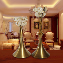 Manufactory wholesale flower shape tall gold wedding candle holders