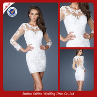 Sh0404 Tight Sexy Short Wedding Dresses Wedding Party Dresses
