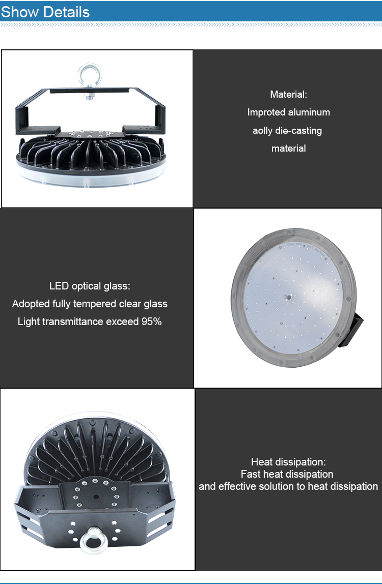 LED High Bay Light Waterproof Light Housing 200w with Great Heat Sink