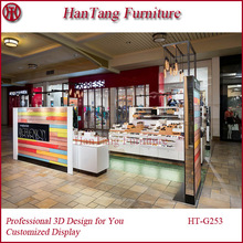 HT FURNITURE 3D Max shopping mall sunglass display kiosk interior design